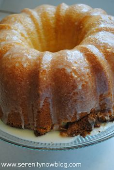 Key lime pound cake recipe from Serenity Now