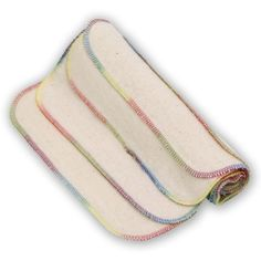Bummis Cotton Wipes. Great wipes, soft and fast drying. Love the colorful stitching too.