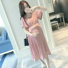 Maternity Dress Outfits, Pregnancy Outfits, Date Outfits, Korean Outfits, Maternity Fashion, Pregnant With A Girl, Clothes For Pregnant Women, Girls Fashion Clothes, Fashion Outfits