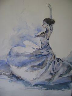 Dance, Watercolor painting by Boyana Petkova