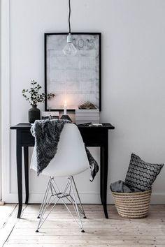 Inspiração - Decoração em branco/cinza/preto