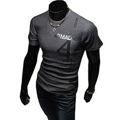 Save $12.88 on WHATWEARS Summer Mens Casual Slim Fit Short Sleeve Tee T Shirt; only $8.11
