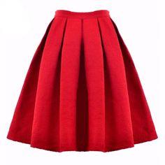 Cheap women fashion skirt, Buy Quality skirt design directly from China women pencil skirt Suppliers: OASAP 2016 Women Midi Skirt High Waist Skater Tutu Skirts Knee Length Women Skirt Pleated Summer Style Skirt saia longa Red A Line Skirt, Red Pleated Skirt, High Waisted Skirt, Chiffon Skirt, Midi Skirt, High Skirts, Cheap Skirts, Red Skirts, Tutu Skirts