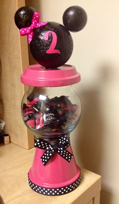 Candy machine for Minnie Mouse birthday party