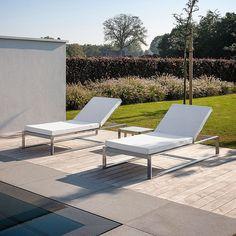 FueraDentro SIESTA Modern Sun Lounger | Minimalist Sunbed Designed By Henk Steenbakkers | FueraDentro LUXURY Garden FURNITURE | High QUALITY OUTDOOR Furniture MATERIALS | Encompass MODERN Garden FURNITURE LONDON. #outdoorfurnituremodernluxury