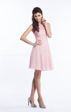 Sleeveless Chiffon Jewel Zipper Empire Bridesmaid Dresses