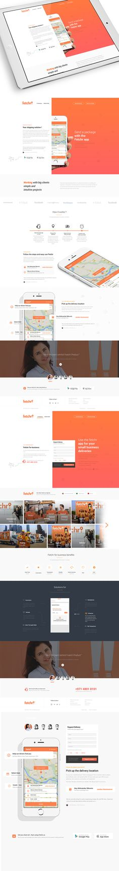 Fetchr.us your shipping solution Web Design on Behance