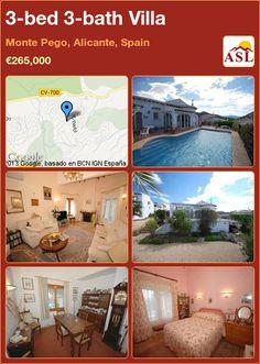3-bed 3-bath Villa in Monte Pego, Alicante, Spain ►€265,000 #PropertyForSaleInSpain