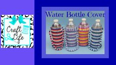 Craft Life Water Bottle Cover on One Rainbow Loom ~ It's a Fun accessory for Summer