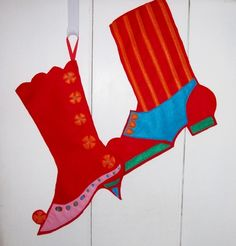 Victorian Personalized Christmas Stockings Pair by Meoneil on Etsy, $60.00
