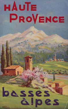 Affiche Vintage du Département des Basses-Alpes (désormais Alpes de Haute Provence)