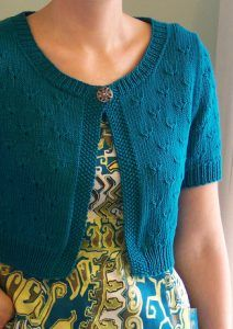 Free knitting pattern for Little Peacock Cardigan