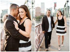 Portland engagement photos on the Hawthorne Bridge by Katy Weaver