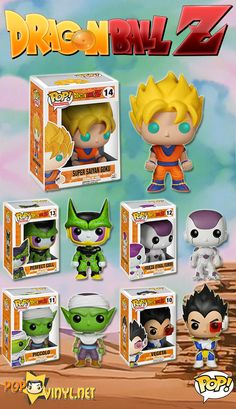 DragonBall Z Funko POP Vinyls These lil guys look coool to have on the computer desk - Visit now for 3D Dragon Ball Z shirts now on sale!