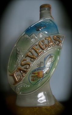 Vintage 1969 Jim Beam Whiskey Decanter Las Vegas by TheRealDelia, $9.50