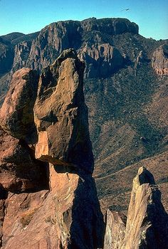 """Part of """"The Boot"""" formation in the Chisos Mountains, Big Bend National Park. Photo taken from www.visitbigbend.com"""