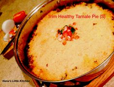 """Nana's Little Kitchen: Low Carb """"Tamale"""" Pie a spicy mix of hamburger Mexican hash and low carb cornbread."""