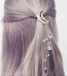 Barrette hair-hair jewelry hair Moon Star gift women-drop of water-crystal-fashion-ornament wedding brilliant Clip hair Summer Accessories, Hair Accessories For Women, Fashion Accessories, Jewelry Accessories, Wedding Accessories, Women Jewelry, Hair Jewelry, Bridal Jewelry, Jewellery