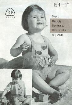 patons 154 Crochet Shrug Pattern, Baby Knitting Patterns, Baby Patterns, Vintage Patterns, Knitted Baby Cardigan, Shrug Cardigan, Vintage Knitting, Vintage Sewing, Baby Fish