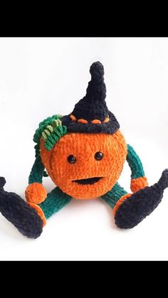 This crochet pattern is easy to follow with very clear instructions. You will learn how to crochet this cute plush pumpkin with your own hands. This list is an original template (written in English using American terminology, to create your own cute PUMPKIN! The toy measures approximately 33 cm (13 inches). # pumpkinamigurumi# pumpkinPATTERN# pumpkinhead# pumpkincrochetdoll# patternEnglishPDF# easycrochetpattern