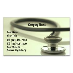 Medical Business Cards. Make your own business card with this great design. All you need is to add your info to this template. Click the image to try it out!