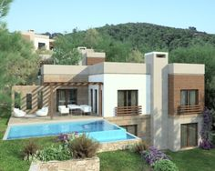 5 BEDROOM LUXURY VILLAS nestled in the hills overlooking one of Bodrum's spectacular bays and surrounded by pine forest. 200 sqm properties with master bedroom suites 3 further double ensuite bedrooms th plus TV room/5 bedroom 550,000 Euros Show house ready for viewing July 2013