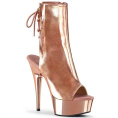 Pleaser Ankle/Mid-Calf Boots Platforms (Exotic Dancing) - Ankle Boot - Ideas of Ankle Boot - Pleaser Ankle/Mid-Calf Boots Platforms (Exotic Dancing) Price : Rose Gold Metallic, Rose Gold Chrome, Metallic Heels, Gold Lace, Buckle Ankle Boots, Platform Ankle Boots, Lace Up Ankle Boots, Calf Boots, Neon Heels