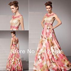 Envío rápido libre para mujer 2013 nueva moda multicolor sin mangas elegantes vestidos de noche largos vestidos ropa Formal del vestido del vestido 81360 en Vestidos de Noche de Bodas y Eventos en AliExpress.com | Alibaba Group