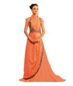 Blacy Beige Net Gowns