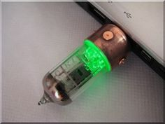 Handmade GREEN Pentode Radio Tube USB Flash Drive with stand SteampunkIndustrial Style Tags Stick Thumb Pen Key Drive Storage Memory Disk Fallout Authentic Gadget >>> Click image for more details. Radios, Gadgets And Gizmos, Cool Gadgets, Usb Drive, Usb Flash Drive, Laptop Mac, Retro Vintage, Steampunk, Drive Storage
