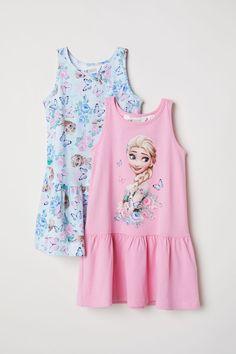 Pack de 2 vestidos de punto - Turquesa claro/Frozen - NIÑOS | H&M ES 3