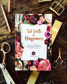 The 52 Lists for Happiness includes lists and prompts that build on the foundations of the original 52 Lists Project but with a new emphasis on understanding and maximizing our own personal happiness. 52 Lists For Happiness, How To Be A Happy Person, Love Book, Journal Inspiration, Book Worms, Are You Happy, My Books, Christmas Gifts, Stationery