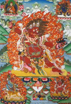 Guru Senge Dradok, a wrathful emanation of Guru Rinpoche, who arose to bring Non-Buddhists to the Dharma