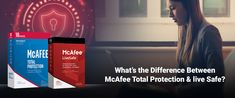 The difference between McAfee Total Protection and live safe will get more evident with articles above. Both of the counter irrigation applications McAfee LiveSafe nearby complete Protection would be both for the large part celebrated and far reaching heap of McAfee's prosperity fixes which give 100% security from several forms of threats like PC diseases, Trojans and spy ware, adware, malware, similarly as extra. Spy Ware, Irrigation, Different, Counter, Articles, Live