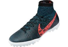 Nike Elastico Superfly Turf Shoes - Black with Blue Lagoon...available at SoccerPro now.