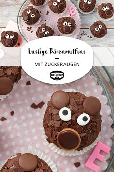 Funny bear muffins - Funny cupcakes Funny cupcakes Funny cupcakes Welcome to our website, We hope you are satisfied wit - Cute Baking, Fall Baking, Kids Baking, Baking Ideas, Cheesecake Cupcakes, Cakes Originales, Cupcakes Amor, Baking Wallpaper, Cupcakes Decorados