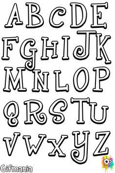 Graffiti Words, Graffiti Lettering Fonts, Hand Lettering Alphabet, Doodle Lettering, Creative Lettering, Lettering Styles, Calligraphy Letters, Lettering Guide, Monogram Stencil
