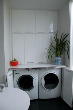 hidden laundry area very clever  #laundry