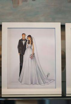 Custom Bridal Illustration for @Kathleen Williams www.brittanyfuson.com