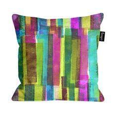 Press print and digital stripe cushion by Sarah Bagshaw
