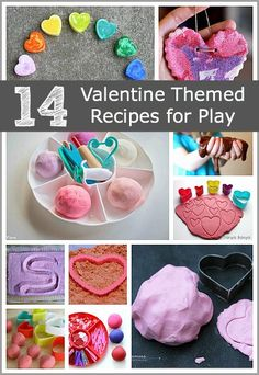 14 Sensory Play Ideas for Valentine's Day! (All kinds of heart and valentine-themed recipes for play and creating!)