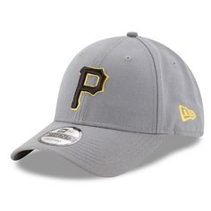 Adult New Era Pittsburgh Pirates 9FORTY The League Storm Adjustable Cap, Grey