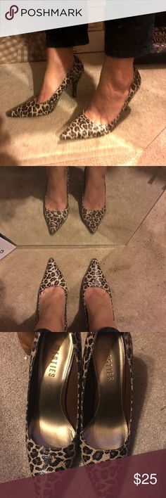 Sexy Cheetah Heels Sexy Cheetah Heels In EUC! Purchased from posh! I just can't seem to rock the pointed toe style heels! My loss your gain 😊👍🏻👠 have any questions please ask! Shoes Heels