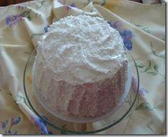 Coconut Cake w/ Seven Minute Frosting , Lemon Curd Filling / Mennonite recipe