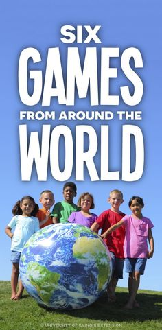 Most children in America play games that have originated in the United States, but don?t know much about games that other children around the world play. Here are six games from around the world. Around The World Games, Around The World In 80 Days, Around The Worlds, Around The World Crafts For Kids, Camping Games, Camping Activities, Camping Cabins, Multicultural Activities, Harmony Day