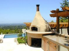 Who wouldn't love a wood-fired pizza oven? via DIYnetwork.com #Italian #Pizza #Eat #Win #Oven