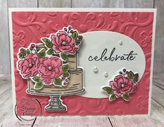 Happy Birthday to You in Flirty Flamingo. Since I've always been a pink girl this is one of my favorite cards I've created with the Happy Birthday To You. Birthday Cake Card, Happy Birthday Cakes, Flamingo Happy Birthday, Cupcake Card, Handmade Invitations, Card Kit, Flower Cards, Stampin Up Cards, Cardmaking
