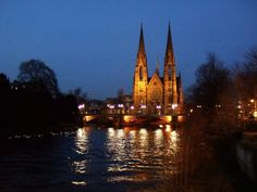 View of St Pauls in Strasbourg, my old stamping ground.