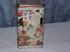 Victorian Look Metal Cracker or Cookie Tin Can by GandTVintage, $14.00
