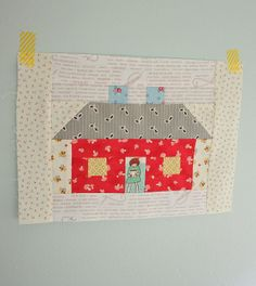 Diary of a Quilter - a quilt blog: Lori Holt's Quilty Fun and a House Quilt Block, week 13